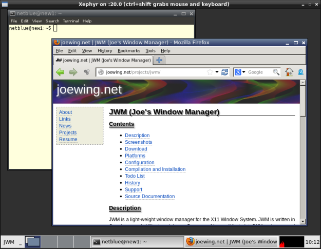 JWM window manager