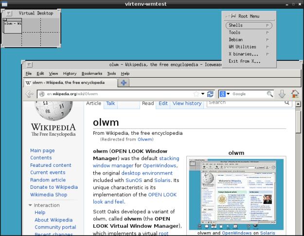olvwm window manager